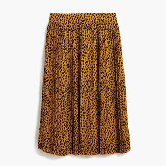 J.Crew Petite pleated midi skirt