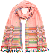 Paul Smith Women's Character Weave Tassel Scarf Blush