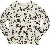 Autumn Cashmere Color Leopard-Print Crewneck Sweater, Size 8-16