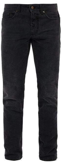 Saint Laurent Faded Skinny Jeans - Mens - Dark Grey