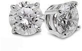 Diamond Studs Forever - 1/2 Carats Total Weight Solitaire Diamond Earrings GH/VS2-SI1 14K Gold // Clous d'oreille en or blanc 14 carats - diamant 0,50 carat - G-H/VS2-SI1