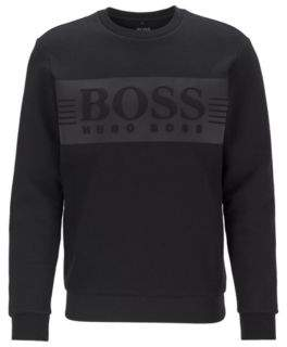 BOSS Logo sweatshirt in a stretch-cotton blend