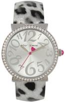 Betsey Johnson Women&s Leopard Crystal Fashion Watch