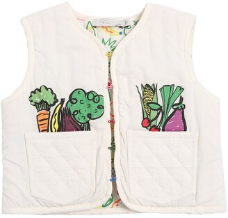 Stella McCartney Fruit & Vegetable Print Padded Vest