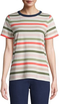 Time and Tru Women's Crewneck Striped T-Shirt