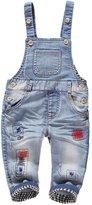 Kidscool Baby Boys/girls Plaid Lining Denim Overalls
