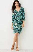 J. Jill Wearever Petal-Hem Printed Dress