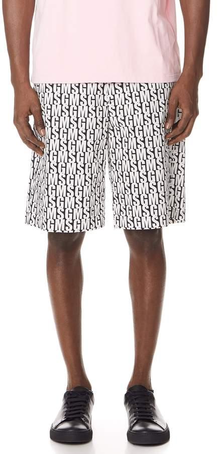 MSGM Allover Print Shorts