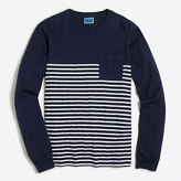 J.Crew Factory Long-sleeve drop-stripe T-shirt