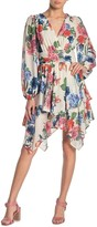 Flying Tomato Floral Printed Asymmetrical Dress