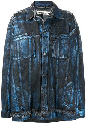 Ottolinger x ISKO metallic-effect oversized denim jacket