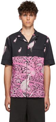 Valentino Black and Pink Japanese Pond Shirt