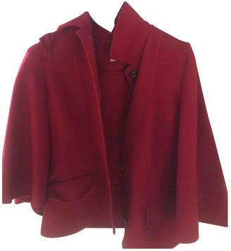 Salvatore Ferragamo Red Wool Jackets