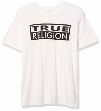 True Religion Men's Box TR Graphic Short Sleeve Crewneck Tee