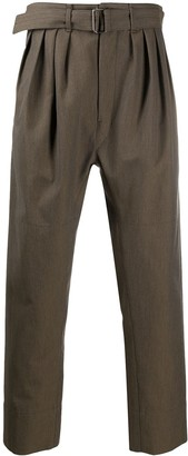 Lemaire Belted Pleat-Front Trousers