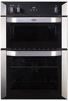 Belling BI90FP Electric Double Oven, Stainless Steel