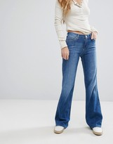 Lee Mid Rise Wide Leg Jeans
