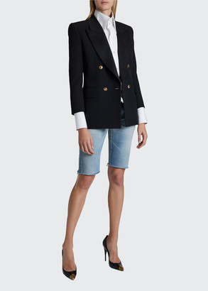 Saint Laurent Double-Breasted Wool Blazer