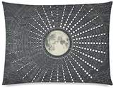 Kitchor Customized Phases Moon Calendar Zippered Pillow Cases Pillow Cover 20x26 Two Side Print