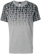 Diesel faded logo print T-shirt
