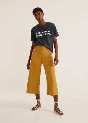 MANGO Girls printed t-shirt charcoal - XS - Women