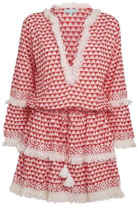 Melissa Odabash Tiered Tassel Dress
