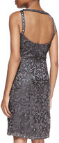 Sue Wong Embellished Scroll Sheath Dress