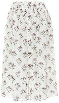 Brock Collection Rovere floral cotton and silk midi skirt