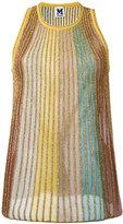 M Missoni multi metallic stripe knit vest - women - Cotton/Polyamide/Polyester - 42