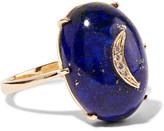 Andrea Fohrman 14-karat Gold, Lapis And Diamond Ring - 7