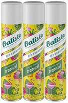 Batiste Dry Shampoo, Tropical, 3 Count (Packaging May Vary)