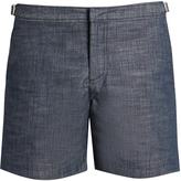 Orlebar Brown Bulldog mid-length chambray swim shorts