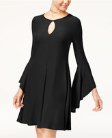 Planet Gold Juniors' Super Soft Ruffle-Sleeve Shift Dress