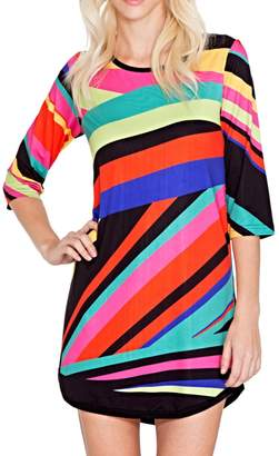 Adore Apparel Geometric Colors Tunic