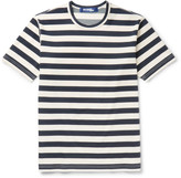 Junya Watanabe - Striped Cotton-blend Ponte De Roma T-shirt
