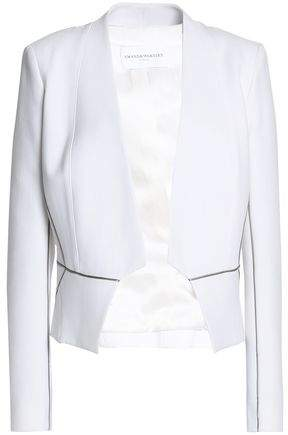 Amanda Wakeley Satin-Trimmed Cady Jacket