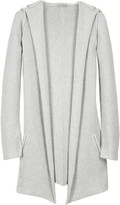 Cashmere blend hooded cardigan