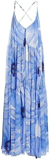 Jacquemus Mistral Plunging Floral Maxi Dress