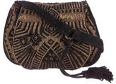 Antik Batik Bead-Embellished Suede Crossbody Bag