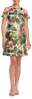 Taylor Floral Print Cold-Shoulder Dress