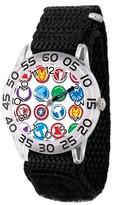 Marvel Boys' Marvel's Avengers Group Logo Clear Plastic Time Teacher Watch - Black