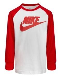 Nike Little Boys Safari Futura Raglan Long Sleeve Tee