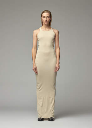 Rick Owens Women's Rib Tank Gown Dress in Pearl Size Small