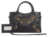 Balenciaga Metallic Edge Mini City Croc Embossed Leather Bag