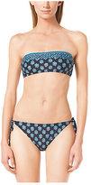Michael Kors Printed Bandeau Bikini Top