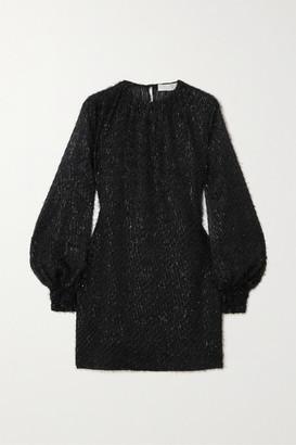 Vanessa Cocchiaro The Eleanor Metallic Fil Coupe Chiffon Mini Dress