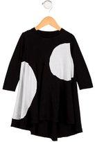 Nununu Girls' High-Low Polka Dot Dress
