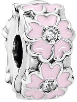 Pandora Clip - Sterling Silver, Cubic Zirconia & Enamel Pink Primrose, Moments Collection