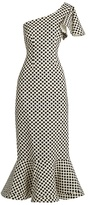 Saloni Greta polka-dot print double-crepe dress