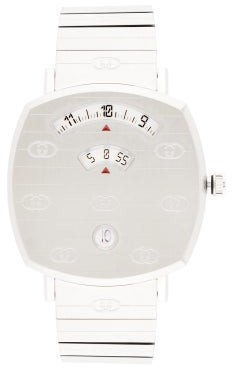 Gucci Grip Three-window Stainless-steel Watch - Silver